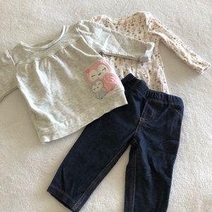 Carter's 3-piece pants set